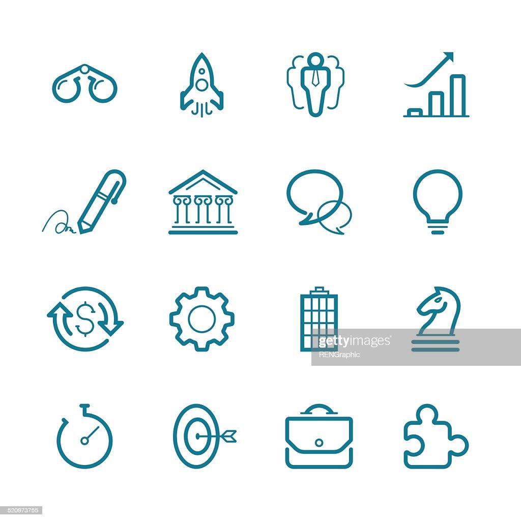 Vector Business Set | Line Icon Series : Vector Art