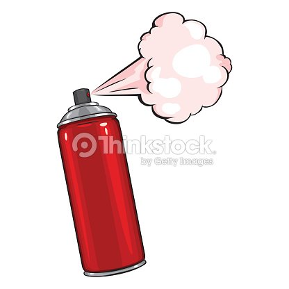 vecteur dessin anim rouge peinture la bombe a rosol. Black Bedroom Furniture Sets. Home Design Ideas