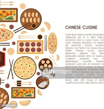 Vettore Fumetto di cucina cinese cibo : Arte vettoriale