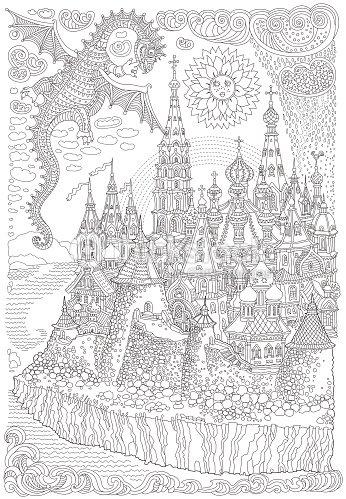 Vector De Dibujos Animados Hadas Un Dragón Volador Con Alas ...