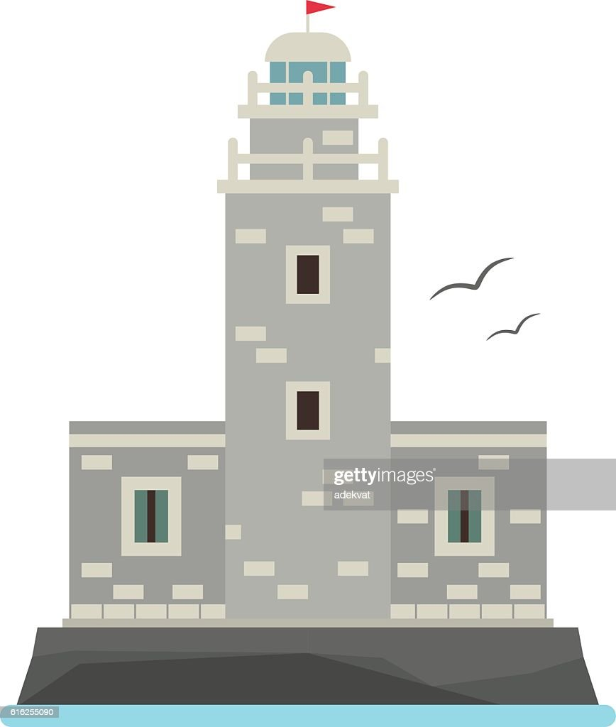 Vector cartoon flat lighthouses. : Arte vectorial