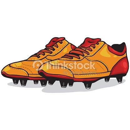 De Chaussures Animé Dessin Rouge Couleur Vecteur Et Orange wza8xq