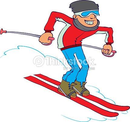 Vecteur dessin anim skieur clipart vectoriel thinkstock - Ski alpin dessin ...