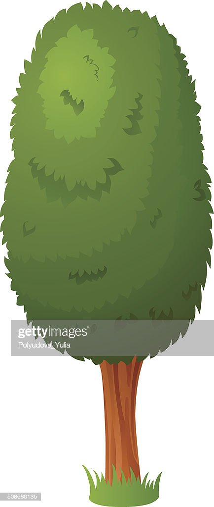Vector cartoon tree : Vector Art