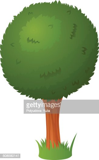 Vector cartoon tree : Vector Art