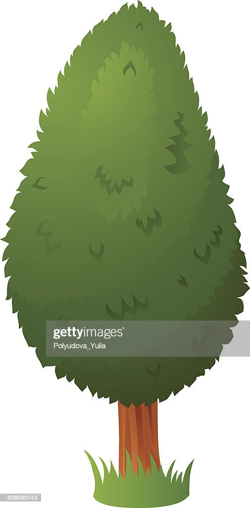 Vector cartoon tree : Vektorgrafik