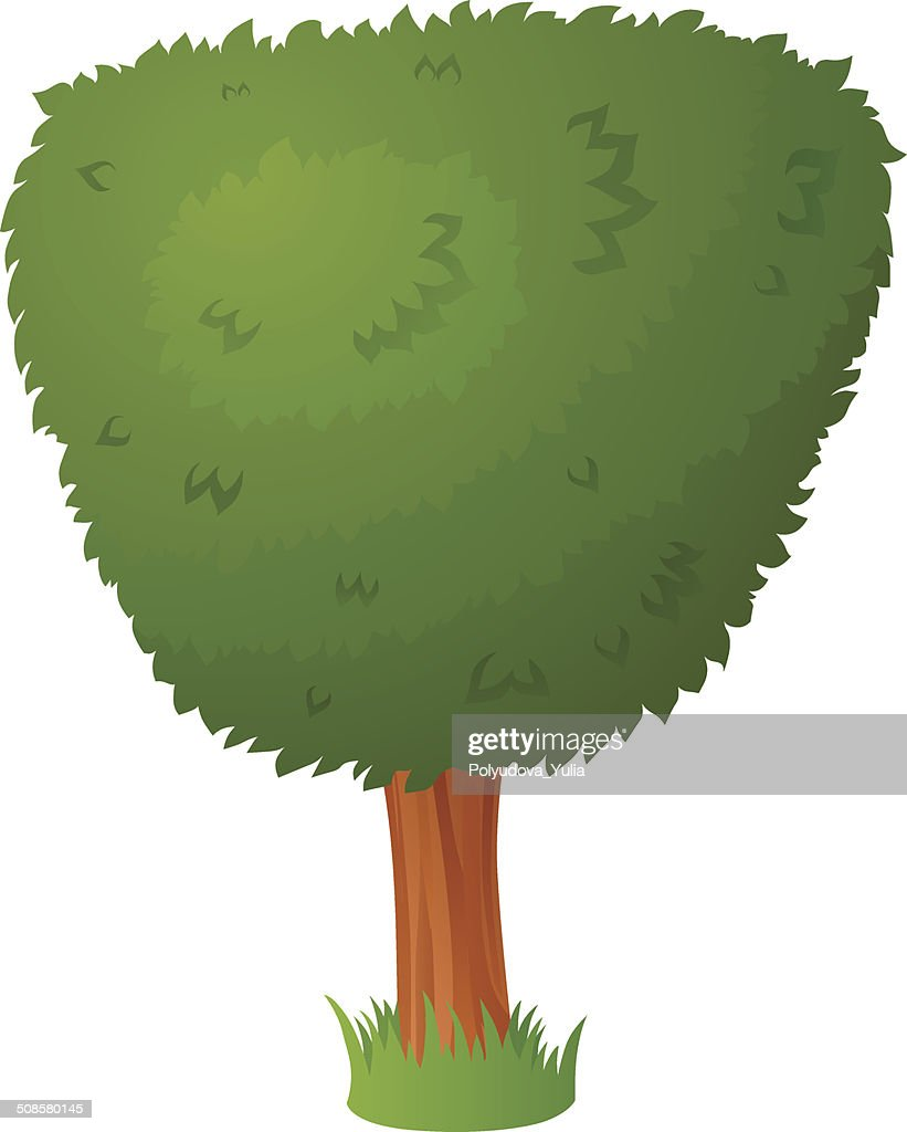 Vector cartoon tree : Vectorkunst