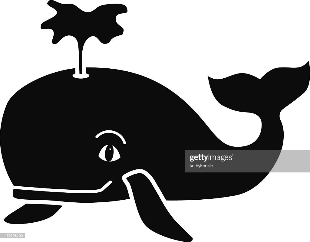 Cartoon whale black and white - photo#19