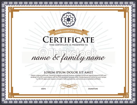 Vector certificate template vector art thinkstock vector certificate template vector art yadclub Image collections