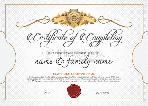 Vector certificate template vector art thinkstock for Calligraphy certificate templates