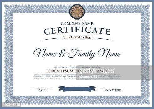 professional award template  Vector Certificate Template Vector Art | Thinkstock