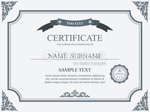 Vector Certificate Template Vector Art Thinkstock