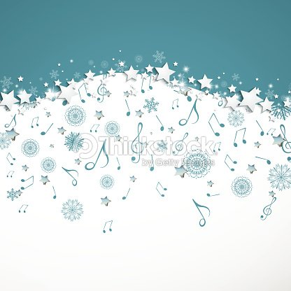 Christmas Music Background.Vector Christmas Music Background With Music Notes And