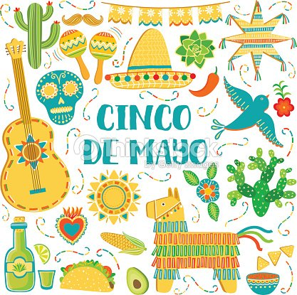 Vector cinco de mayo background mexican symbols greeting card vector vector cinco de mayo background mexican symbols greeting card vector art m4hsunfo