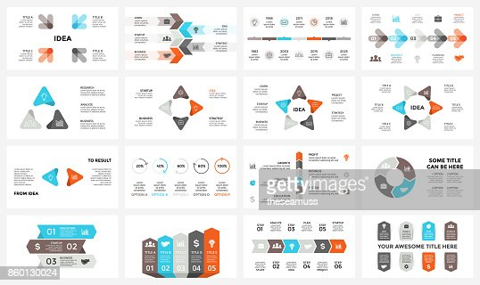 Vector circle arrows infographic, cycle diagram, graph, presentation chart. Business concept with 3, 4, 5, 6, 7, 8 options, parts, steps, processes. 16x9 slide template : stock vector