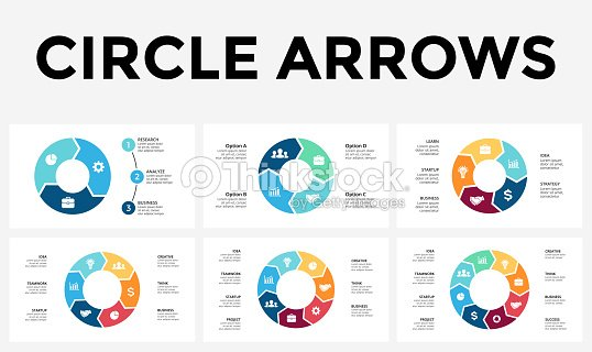 Vector circle arrows infographic cycle diagram graph presentation vector circle arrows infographic cycle diagram graph presentation chart business concept with 3 4 5 6 7 8 options parts steps processes ccuart Image collections