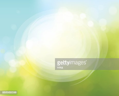 Vector circle frame on nature bokeh  background. : Vector Art