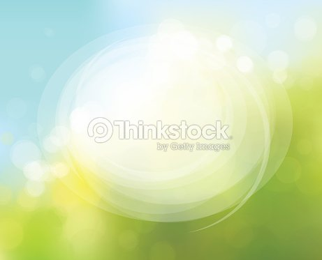 Vector circle frame on nature bokeh  background. : stock vector