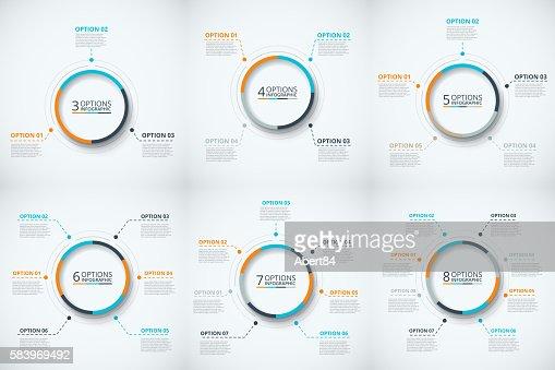 Vector circle infographic. : stock vector