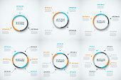Vector circle infographic. Template for cycle diagram, graph, presentation and round chart. Business concept with 3, 4, 5, 6, 7 and 8 options, steps or processes Data visualization