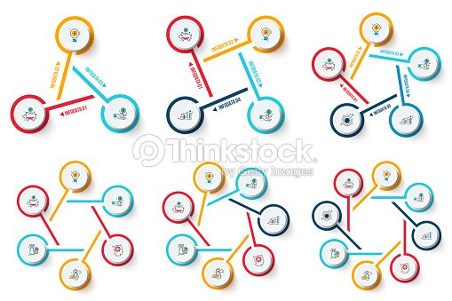 Vector Circle Infographics Set Template For Cycle Diagram Graph