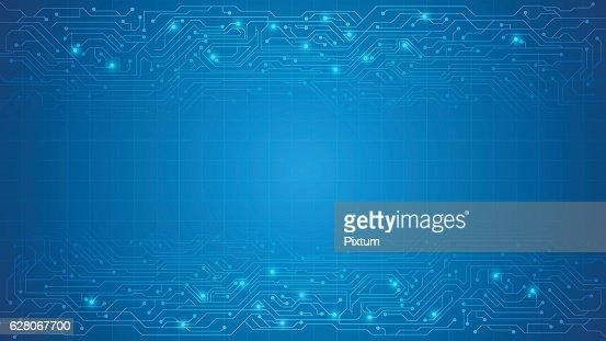 vector circuit texture background : stock vector