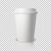 vector coffee cup isolated on transparent ps style background p