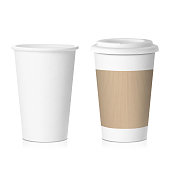 paper coffee cup isolated on white background  in vector format