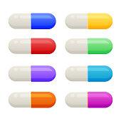 Vector color pills
