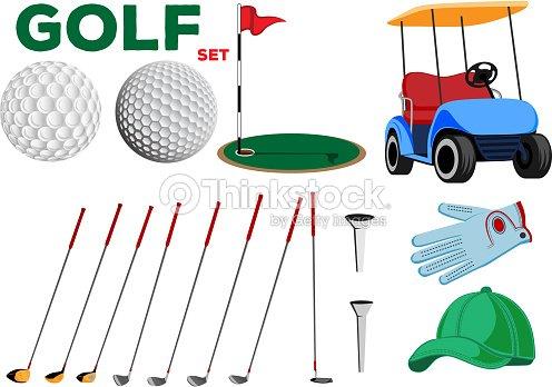 vektorfarbtabelle golf club designelemente f r den einsatz in verschiedenen arten von drucken. Black Bedroom Furniture Sets. Home Design Ideas