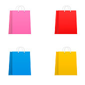 Vector colorful shopping bags