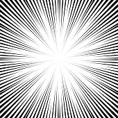 Vector Comic Book Speed Lines Background Starburst Explosion In Manga Or Pop Art Style