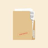 Confidential and top secret document concept. Vector