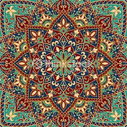 Cubierta Con Colorido Vector De Ornamentos Arte Vectorial