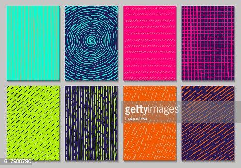 Vector creative cards : arte vetorial