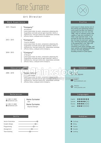 vector creative resume template minimalist style cv infographic