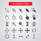 Vector Cursor Icons Set On White Background
