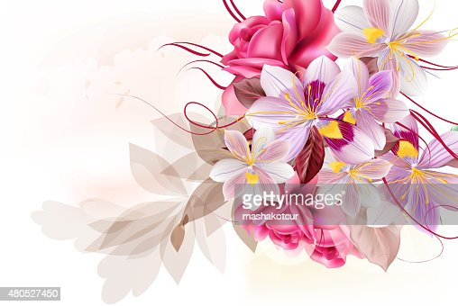 Vector cute flower bouquet for design : Vector Art