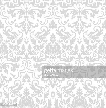 Vector damask seamless pattern element. Classical luxury old fashioned damask ornament, royal victorian seamless texture for wallpapers, textile, wrapping. Exquisite floral baroque template. : stock vector