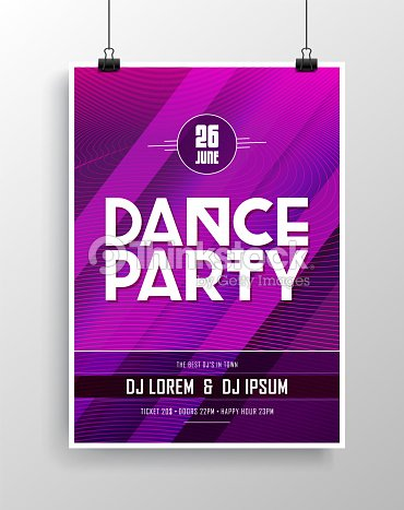 vector dance party flyer design with eyecatching background vector