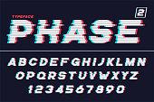 Vector decorative futuristic font design, alphabet. Vector illustration