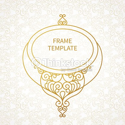 Vector Decorative Line Art Frame For Design Template Vector Art ...