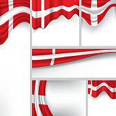 Vector Denmark Flag, danish Colors (Vector Art)