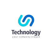 Vector design element for business. Tethnology sign