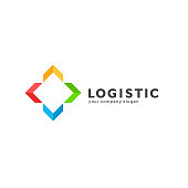 Vector design element for logistics and transport company.