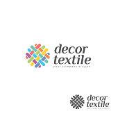 Vector design element for shop knitting, textile