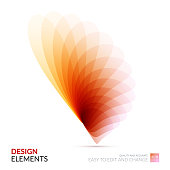 Vector Design Elements for graphic layout. Modern Abstract background template with soft flower shapes and wave gradient elements for business and beauty with beautiful overlap effect.