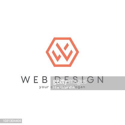 Conception de vecteur pour les entreprises. Lettre W : clipart vectoriel