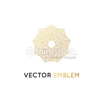 Vector Design Template Abstract Symbol In Ornamental Arabic Style