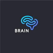 Vector design template. Brain sign icon